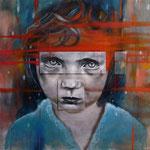 Mémoire effacée - Acrylique et huile sur toile - 100x100 cm