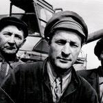 механизаторы колхоза им. Карла Маркса Хафизов М., Латыпов И., Шайдуллин