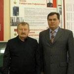 И.Бикбаев с руководителем музея С.Исмагиловым