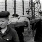 Лагерь Stalag (Шталаг) VI-C Витмаршен.   Съёмка 1944 года. Похороны умершего пленного.