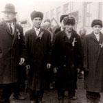 Шествие ветеранов на 50 летие Октябрьской Революции