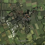 Поселок Далум с высоты птичьего полета