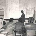 Выступление с докладом на Урало-Поволжеской археологической студенческой конферении в г.Йошкар-Ола. 1978г.