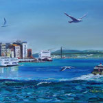 """Crossing the Bosphorus"", oil, canvas, 50x70cm, 2014"