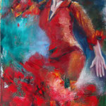 """Red Passion"", oil, board, 60x100cm, 2014"