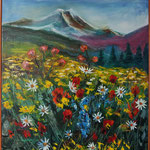 """The Mountain Flowers"", oil, canvas, 50x60cm, 2015"