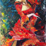 """Let Me Dance It"", oil, board, 60x100cm, 2014"