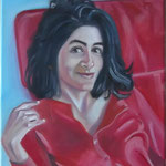 """Red on Red II"", oil, canvas, 30x40cm, 2013"