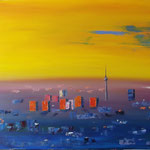 """The Wakening Berlin"", oil, board, 60x100cm, 2014"