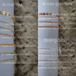 Ketten 14k Rosè-/ gold filled / Sterling Silber
