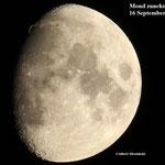 Mond zunehmend. 16 September 2021