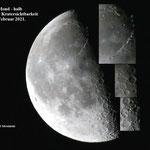 Mond - halb. Guter Kratwrsichtbarkeit. 4 Februar 2021