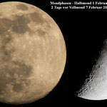 Mondphasen.1 + 7 Februar 2020