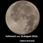 Vollmond vom 19 August 2016
