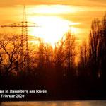 Sonnenuntergang Baumberg am Rhein.18 Februar 2020