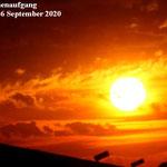 Sonnenaufgang. Monheim 16 September 2020