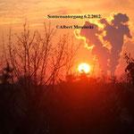 Sonnenuntergang Februar 2012
