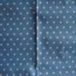 hellblau mit weißen Sternen ca. 10mm