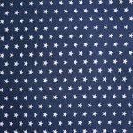 Jersey dunkelblau mit weißen Sternen ca. 10mm