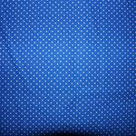 royalblau mit weißen Punkten ca. 2mm