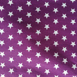 Jersey brombeer mit weißen Sternen ca. 15mm
