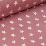 Jersey altrosa mit weißen Sternen ca. 10mm