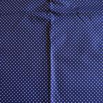 dunkelblau mit weißen Punkten ca. 2mm