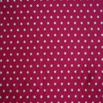 Jersey pink mit weißen Sternen ca. 10mm