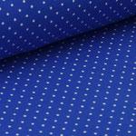 Jersey royalblau mit weißen Punkten ca. 2mm