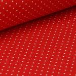 Jersey rot mit weißen Punkten ca. 2mm