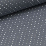 Jersey dunkelgrau mit weißen Punkten ca. 2mm