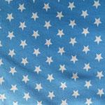 Jesey blau mit weißen Sternen ca. 15mm