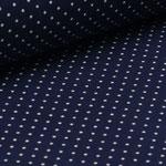Jersey dunkelblau mit weißen Punkten ca. 2mm