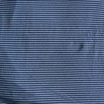 Jersey hellblau helltürkis gestreift