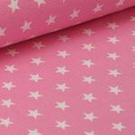 Jersey rosa mit weißen Sternen ca. 10mm
