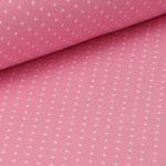 Jersey rosa mit weißen Punkten ca. 2mm