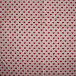 weiß mit roten Herzen ca. 6mm