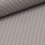 Jersey taupe mit weißen Punkten ca. 2mm