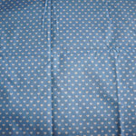 hellblau mit weißen Herzen ca. 6mm