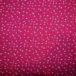 Jersey pink mit Punkten und Sternen