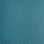 Jersey türkis mit grauen Sternen ca. 10mm RESTSTÜCK nur mehr für Stirnband oder Dreieckstuch!!!