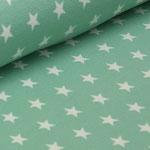 Jersey mint mit weißen Sternen ca. 10mm