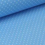 Jersey hellblau mit weißen Punkten ca. 2mm