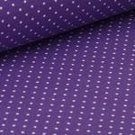 Jersey lila mit weißen Punkten ca. 2mm