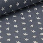 Jersey grau mit weißen Sternen ca. 10mm