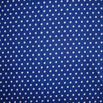 royalblau mit weißen Sternen ca. 10mm