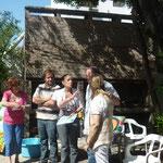 Jefa Administrativa Sra.Elsa Bonzi que ofició de locutora