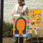 Hermosísimo retrato que me realizaron los niños del jardín 936