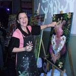 Adriana Gutierrez - agatadeargentina El Show, pintando en vivo