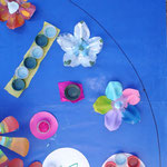 Mandala Azul de Dimosaurios